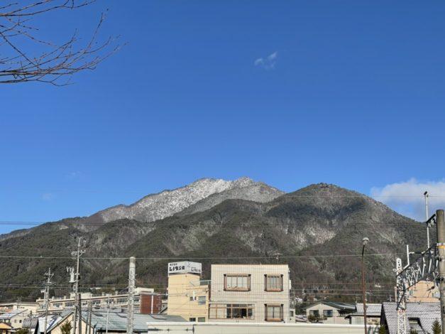 飯田にも初雪